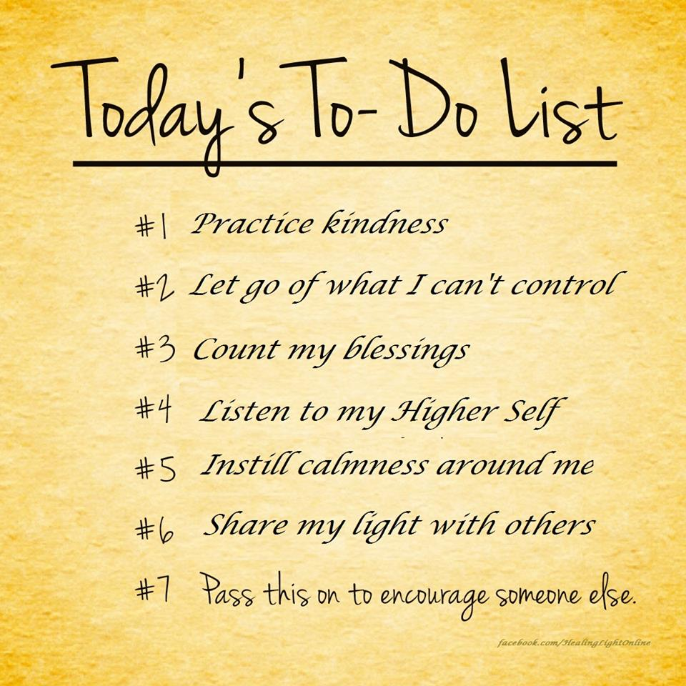 to do list for every day shine consciously let go of your ego